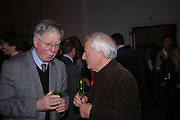 Len McComb and ?. Skools Rool, fundraising event  for the Royal Academy Schools.  Burlington St. London. 14 March 2005. ONE TIME USE ONLY - DO NOT ARCHIVE  © Copyright Photograph by Dafydd Jones 66 Stockwell Park Rd. London SW9 0DA Tel 020 7733 0108 www.dafjones.com