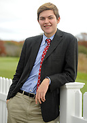 HYANNIS -- 111214 -- Caleb Wursten, 17, senior at Nantucket High School attended Philanthropy Day at the Hyannis Resort and Convention Center.  Cape Cod Times/Christine Hochkeppel