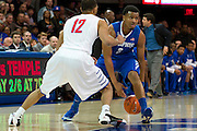 DALLAS, TX - FEBRUARY 01: Chris Crawford #3 of the Memphis Tigers brings the ball up court against the SMU Mustangs on February 1, 2014 at Moody Coliseum in Dallas, Texas.  (Photo by Cooper Neill/Getty Images) *** Local Caption *** Chris Crawford