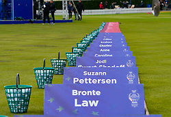 Solheim Cup 2019 at Centenary Course at Gleneagles in Scotland, UK. Practice ground on Sunday morning.