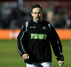 Glasgow Warriors' Ruaridh Jackson during the pre match warm up<br /> <br /> Photographer Simon King/Replay Images<br /> <br /> Guinness PRO14 Round 14 - Dragons v Glasgow Warriors - Friday 9th February 2018 - Rodney Parade - Newport<br /> <br /> World Copyright © Replay Images . All rights reserved. info@replayimages.co.uk - http://replayimages.co.uk