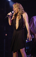 Mariah Carey performing on the United We Stand: What More Can I Give?  benefit concert at RFK Stadium in Washington, DC.  October 21, 2001 (Photo by Jeff Snyder)