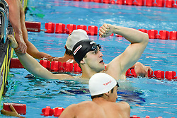 HANGZHOU, Dec. 16, 2018  Ryan Held (C) of Team USA celebrates after winning Men's 4X100m Medley Relay Final at 14th FINA World Swimming Championships (25m) in Hangzhou, east China's Zhejiang Province, on Dec. 16, 2018.Team USA claimed the title with 3:19.98. (Credit Image: © Xinhua via ZUMA Wire)