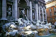 Trevi fountain, Rome, Italy 1974