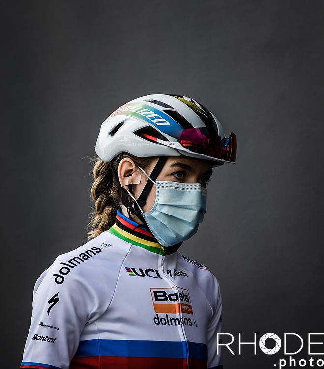 World Champion Anna van der Breggen (NED/Boels-Dolmans)  pre race   <br /> <br /> 17th Ronde van Vlaanderen 2020<br /> Elite Womens Race (1.WWT)<br /> <br /> One Day Race from Oudenaarde to Oudenaarde 136km<br /> <br /> ©kramon