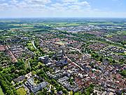 Nederland, Gelderland, Gemeente Culemborg, 27-05-2020; centrum Culemborg met de Markt, Grote of Barbarakerk (PKN)<br /> en Heilige  Barbarakerk (RK).<br /> Center Culemborg with the Market, Grote or Barbarakerk (PKN)<br /> and Holy Barbara Church (RK).<br /> luchtfoto (toeslag op standaard tarieven);<br /> aerial photo (additional fee required)<br /> copyright © 2020 foto/photo Siebe Swart