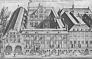 The East India House at Amsterdam. This building, originally a warehouse for the goods and products which the East India Company imported was the headquarters of the East India Company which helped the Netherlands in gaining the first place among the great commercial nations of that time.