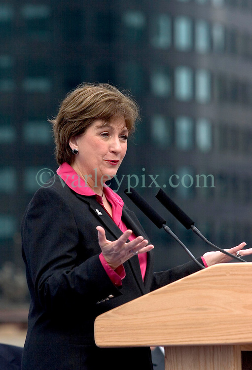 01 Jan 2006. New Orleans, LA  Post Katrina aftermath.<br /> New Year's Day in New Orleans, Louisiana. Louisiana Rebirth interfaith service at the Super dome rings out the old disastrous 2005 and rings in what politicians and locals hope will be a successful 2006. Governor Kathleen Blanco speaks to the crowds.<br /> Photo; ©Charlie Varley/varleypix.com