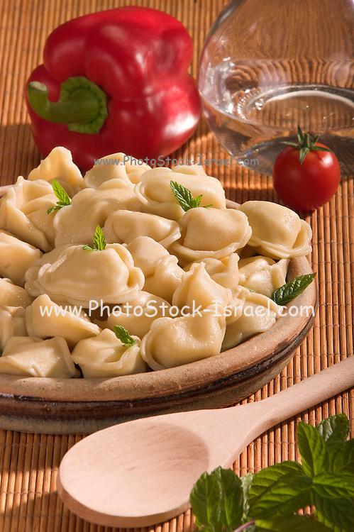 Plate of tortellini pasta