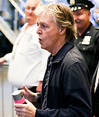 Paul McCartney performs live at Grand Central Station, New York