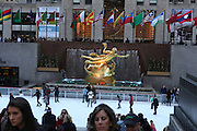 USA, New York City, Rockefeller Plaza