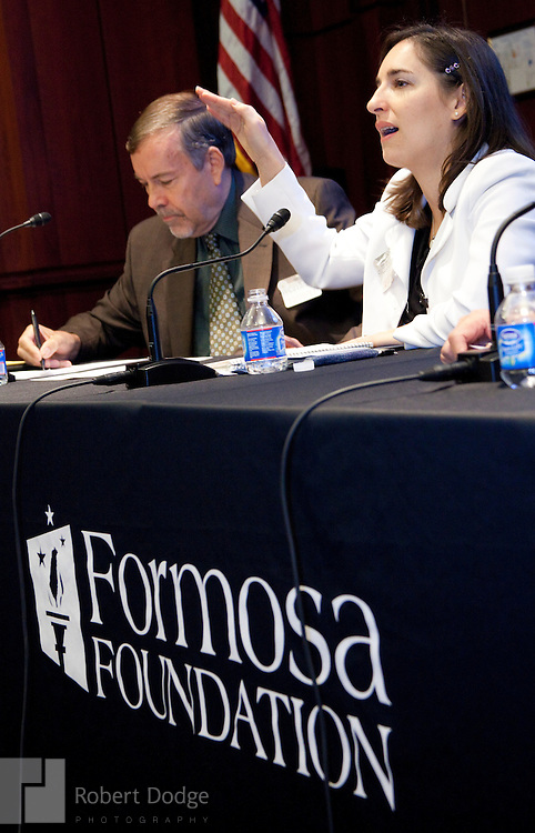 """The Formosa Foundation, which promotes self-determination for Taiwan, held a half-day conference in Washington in December on Taiwan's January 2012 elections. """"Ensuring Free and Fair Elections"""" featured members of Congress, including U.S. Sen. Sherrod Brown, D-Ohio, Rep. Howard Berman, D-Ca., Rep. Ed Royce, R-Ca., and Rep. Ileana Ros-Lehtinen, R-Fl., chair of the House Foreign Affairs Committee. Other speakers included Terri Giles, executive director of the Formosa Foundation; Carolyn Bartholomew, U.S.-China Economic and Security Review Commission; Louisa Greve, National Endowment for Democracy; Dr. Jaushieh Wu, National Chengchi University and the International Committee for Fair Elections in Taiwan; Sarah Cook, Freedom House; Julian Baum, journalist."""
