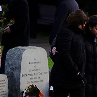 A service was held today at Drysdale Cemetery near the town Lockerbie in the Scottish Borders to mark the 20th Anniversary of the Lockerbie Bombing.  On the 21st December 1988 at 19:03 Boeing 747-121, N739PA Maid of the Seas, operating on Pan American World Airways Flight 103 from London Heathrow to New York Kennedy Airport and cruising at 31,000 feet exploded at position 55¡ 07? N / 003¡ 21? W above Lockerbie, Dumfriesshire, Scotland. All 16 aircrew and 243 passengers aboard the aircraft died. Two major portions of the aircraft wreckage fell on the town of Lockerbie, the impact and resulting fireball accounting for the lives of 11 residents of the town: 21 homes had to be demolished and many more required substantial repairs.