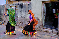 Inde, Gujarat, region du Kutch, Bhuj, village de Dhaneti, population Ahir, le moulin du village // India, Gujarat, Kutch, Bhuj, Dhaneti villlage, Ahir ethnic group