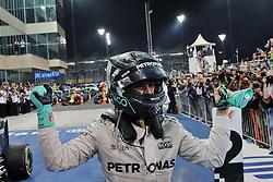 Grand Prix von Abu Dhabi auf dem Yas Marina Circuit / 271116<br /> <br /> ***Nico Rosberg (GER) Mercedes AMG F1 celebrates his World Championship in parc ferme.<br /> 27.11.2016. Formula 1 World Championship, Rd 21, Abu Dhabi Grand Prix, Yas Marina Circuit, Abu Dhabi, Race Day.<br /> ***