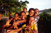 Boys, Kadavu, Fiji , (Editorial use only)<br />