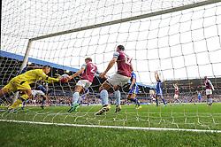 Pierluigi Gollini of Aston Villa makes a save from Clayton Donaldson of Birmingham City  - Mandatory by-line: Dougie Allward/JMP - 30/10/2016 - FOOTBALL - St Andrew's Stadium - Birmingham, England - Birmingham City v Aston Villa - Sky Bet Championship