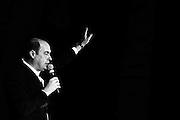 Il neo eletto Presidente della Regione Lazio Nicola Zingaretti saluta i propri sostenitori dopo il termine dello spoglio dei voti. Roma - 26 febbraio 2013. Matteo Ciambelli / Oneshot