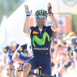 20-04-2016: Wielrennen: Waalse Pijl: Hoei <br /> HUY (BEL) wielrennen<br /> Alejandro Valverde wint de Waalse Pijl voor de vierde keer