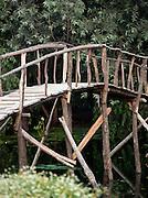 Wooden bridge at Lake Dal, Kashmir, India