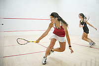 St Paul's School girls varsity squash.    ©2016 Karen Bobotas Photographer