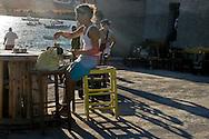 Greece, Koufonissi, Cyclades: Bar Sorokos