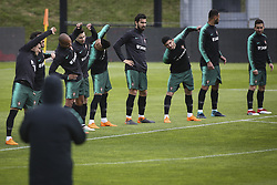 March 20, 2018 - Lisbon, Portugal - Portugal's players take part in a training session at Cidade do Futebol training camp in Oeiras, outskirts of Lisbon, on March 20, 2018 ahead of the friendly football match in Zurich against Egypt on March 23. (Credit Image: © Carlos Costa/NurPhoto via ZUMA Press)