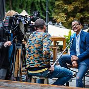 NLD/Amsterdam/20200903 - Kick off Stoptober 2020, Jorgen Raymann word geinterviewd