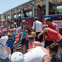 Children's Railway in Budapest, Hungary on June 22, 2011. ATTILA VOLGYI