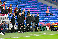 Football - 2022 FIFA World Cup - European Qualifying - Group E - Wales vs Czech Republic - Cardiff City Stadium<br /> <br /> Wales stand in manager Ryan Giggs & his bench sing anthems<br /> <br /> COLORSPORT/WINSTON BYNORTH