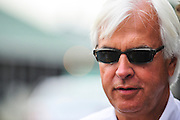 May 5, 2012 - Bob Baffert on the backside at Churchill Downs leading up to the Kentucky Derby 2012 in Louisville Kentucky. © Jamey Price / Getty Images. IMAGE NOT AVAILABLE FOR SALE.