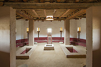 Reconstructed kiva at Aztec Ruins National Monument, New Mexico