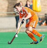 ROTTERDAM -  Samuel van Huiden   (Neth.)   Practice Match Hockey : Netherlands Boys U18  v England U18 .  COPYRIGHT KOEN SUYK