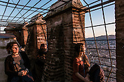 Bologna, at the top of Torre degli Asinelli.