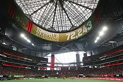 July 15, 2018 - Atlanta, GA, USA - Atlanta United fans set a new MLS record attendance of 72,243 against the Seattle Sounders on Sunday, July 15, 2018, in Atlanta, Ga. (Credit Image: © Curtis Compton/TNS via ZUMA Wire)