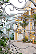 Gated homes on the Gulf beach.  Indian Rocks Beach Tampa Bay Area Florida USA