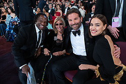 Gloria Campano, Oscar® nominee Bradley Cooper, and Irina Shayk, during The 91st Oscars® at the Dolby® Theatre in Hollywood, CA on Sunday, February 24, 2019.