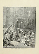 Captive cavaliers [chevaliers] at Cairo Plate LXXVII from the book Story of the crusades. with a magnificent gallery of one hundred full-page engravings by the world-renowned artist, Gustave Doré [Gustave Dore] by Boyd, James P. (James Penny), 1836-1910. Published in Philadelphia 1892