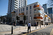 New apartment buildings in Whitechapel in London, England, United Kingdom.