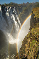 Rainbow at Vic Falls, Zambia