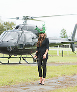 30/07/2015 Ireland's leading model, Roz Purcell,  judge at the 4 star,  Hotel Meyrick's annual most stylish lady competition on Kilkenny's Ladies Day of Galway Race Week 2015. Roz is flying executive helicopters  to the Races.  Photo: Andrew  Downes xposure