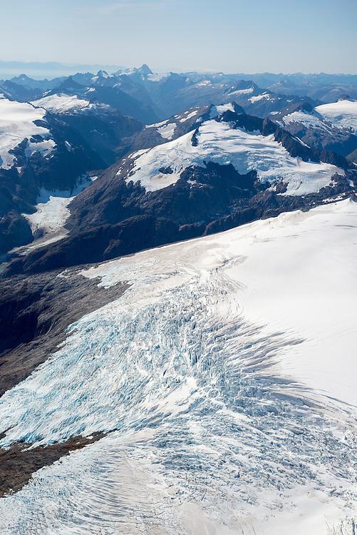 Glacial clad Peak 5390, the highest mountain of Baranof Island, Alaska.