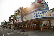 Ocean Blvd tourist strip on the boardwalk along the beachfront in Myrtle Beach, SC.