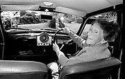 Nellie Dillon 90 years old driver in Moyvane, Kerry in 1992.<br /> Now & Then - MacMONAGLE photo archives.<br /> Picture by Don MacMonagle -macmonagle.com<br /> Facebook - @killarneynowandthen