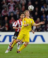 Photo: RIchard Lane.<br />PSV Eindhoven v Liverpool. UEFA Champions League, Quarter Final, 1st Leg. 03/04/2007. <br />Liverpool's Dirk Kuyt.