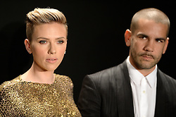 Scarlett Johansson and Romain Dauriac arrive at the Tom Ford Autumn/Winter 2015 Womenswear Collection Presentation at Milk Studios in Los Angeles, CA, USA on February 20, 2015. Photo by Lionel Hahn/ABACAPRESS.COM