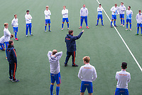 AMSTELVEEN  - bondscoach Max Caldas (Ned)  tijdens training Nederlands hockeyteam mannen voor de Pro League wedstrijden tegen Groot Brittannie   COPYRIGHT KOEN SUYK
