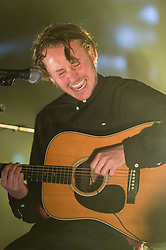 "© Licensed to London News Pictures. 10/12/2014. London, UK.   Ben Howard performing live at Brixton Academy.   Benjamin John ""Ben"" Howard is an English singer- songwriter and is touring to promote his second studio album ""I Forget Where We Were"" which he released in October 2014.  Photo credit : Richard Isaac/LNP"