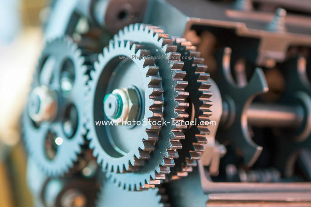 Close up of aviation engine