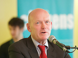 East London Citizens UK and TELCO <br /> Tower Hamlets Mayoral Election event at the WaterLily, Mile End Road, London, Great Britain <br /> 3rd June 2015 <br /> <br /> John Biggs <br /> Labour Candidate <br /> a Labour and Co-operative Party politician and member of the London Assembly representing the City and East constituency.<br /> <br /> <br /> Photograph by Elliott Franks <br /> Image licensed to Elliott Franks Photography Services